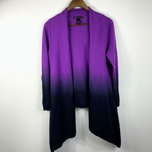 Inc International Purple Ombre Cardigan L/XL
